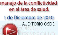 1º de diciembre | Prevención y Manejo de la Conflictividad en el área de Salud