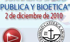 2 de diciembre | Jornadas salud pública y Bioética
