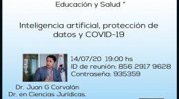 Ciclo de Políticas Públicas Proactivas en Educación y Salud «Inteligencia artificial, protección de datos y COVID-19»